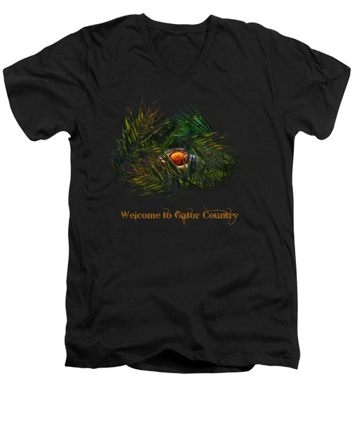 Men's V-Neck T-Shirt featuring the photograph Gator Country  by Mark Andrew Thomas