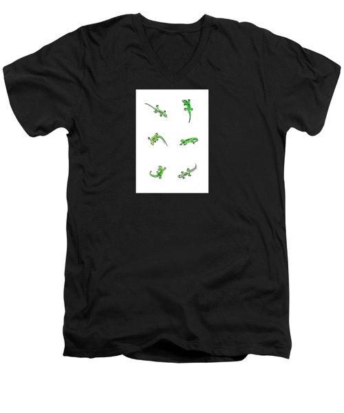Gecko Play Men's V-Neck T-Shirt