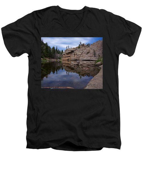 Gem Lake Men's V-Neck T-Shirt