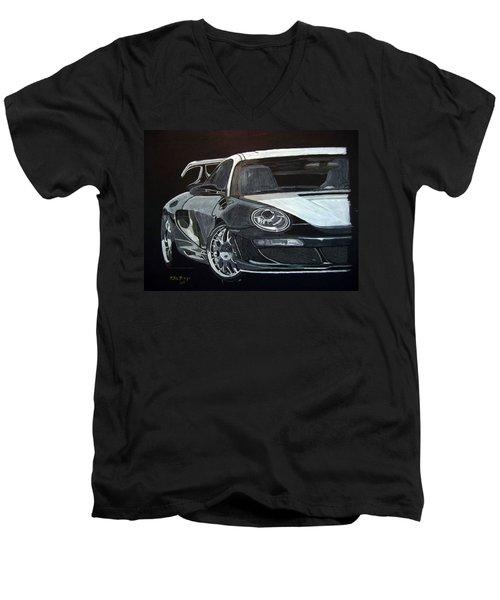 Gemballa Porsche Right Men's V-Neck T-Shirt