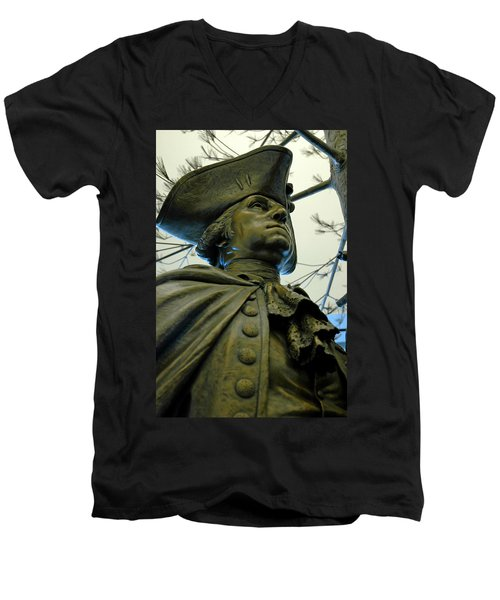 General George Washington Men's V-Neck T-Shirt by LeeAnn McLaneGoetz McLaneGoetzStudioLLCcom