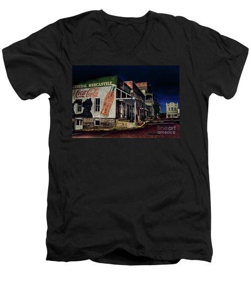 General Mercantile Men's V-Neck T-Shirt by Savannah Gibbs