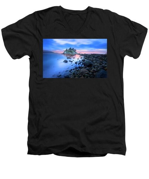Men's V-Neck T-Shirt featuring the photograph Gentle Sunrise by John Poon