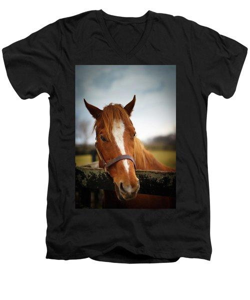 Men's V-Neck T-Shirt featuring the photograph Genuine Reward by Shane Holsclaw