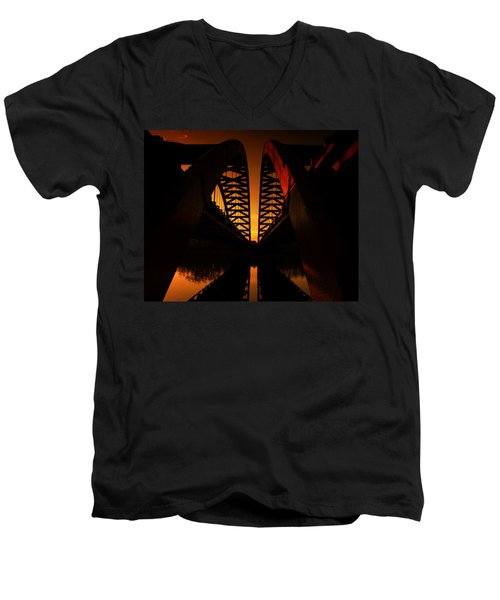 Geometry In Steel Men's V-Neck T-Shirt