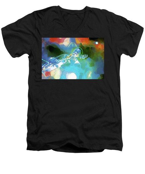 George Benson, Watercolor Men's V-Neck T-Shirt
