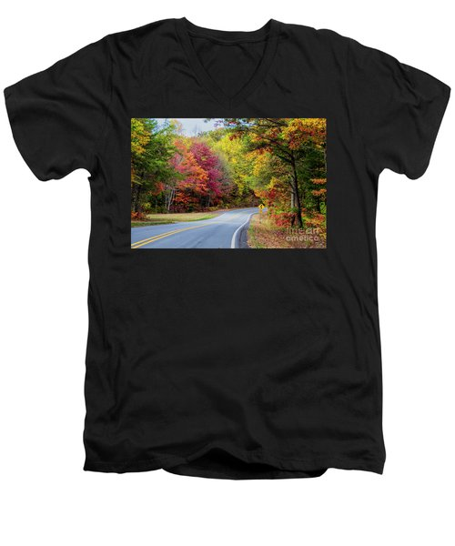 Georgia Scenic Byway Men's V-Neck T-Shirt by Barbara Bowen