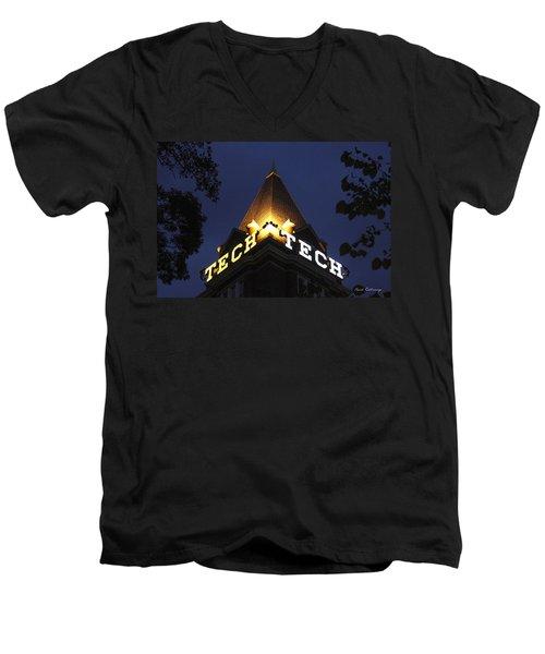 Georgia Tech Atlanta Georgia Art Men's V-Neck T-Shirt by Reid Callaway
