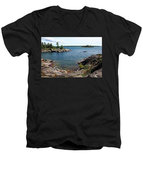 Georgian Bay Islands Men's V-Neck T-Shirt