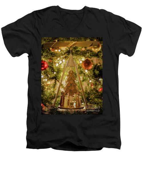 German Christmas Pyramid Men's V-Neck T-Shirt