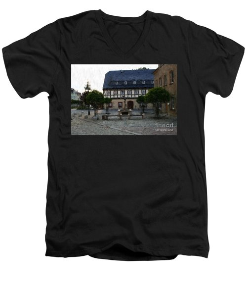 German Town Square Men's V-Neck T-Shirt