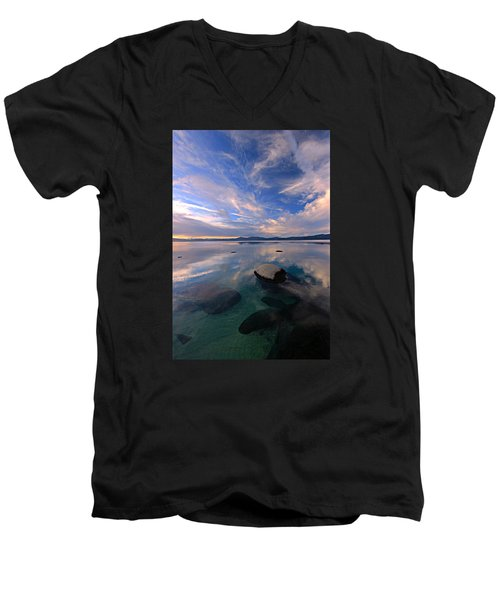 Get Into Nature Men's V-Neck T-Shirt by Sean Sarsfield