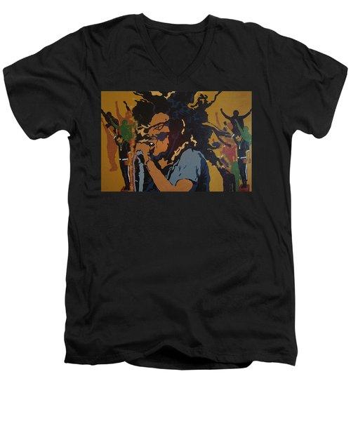 Get Up Stand Up Men's V-Neck T-Shirt