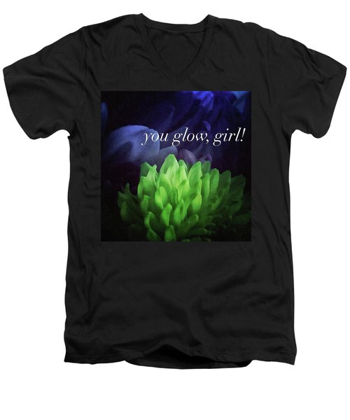 You Glow Girl Men's V-Neck T-Shirt by Crystal Rayburn