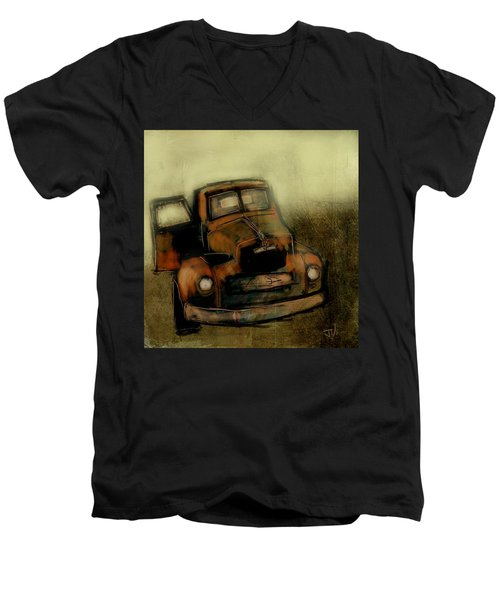 Getaway Truck Men's V-Neck T-Shirt by Jim Vance