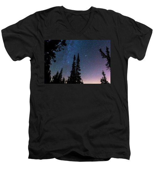 Men's V-Neck T-Shirt featuring the photograph Getting Lost In A Night Sky by James BO Insogna