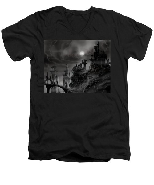 Ghost Castle Men's V-Neck T-Shirt