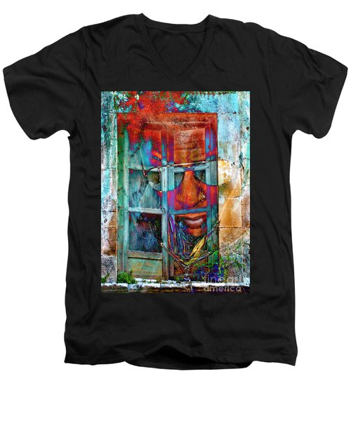 Ghost Goes Through Wall Men's V-Neck T-Shirt