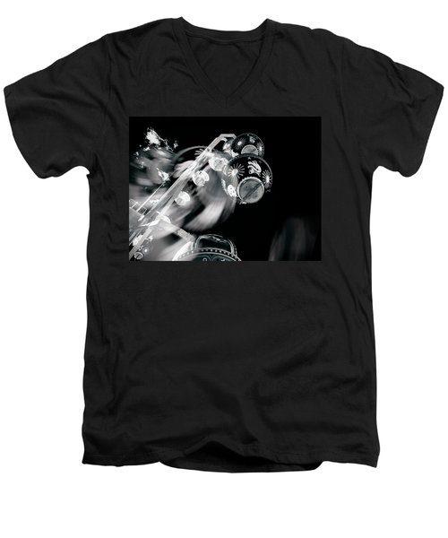 Men's V-Neck T-Shirt featuring the photograph Ghost In The Machine by Wayne Sherriff