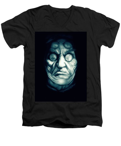 Ghost Marley Men's V-Neck T-Shirt by Fred Larucci
