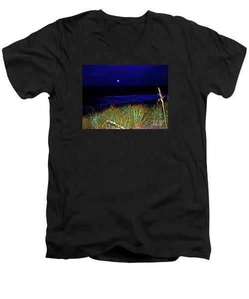 Ghost Moon Men's V-Neck T-Shirt
