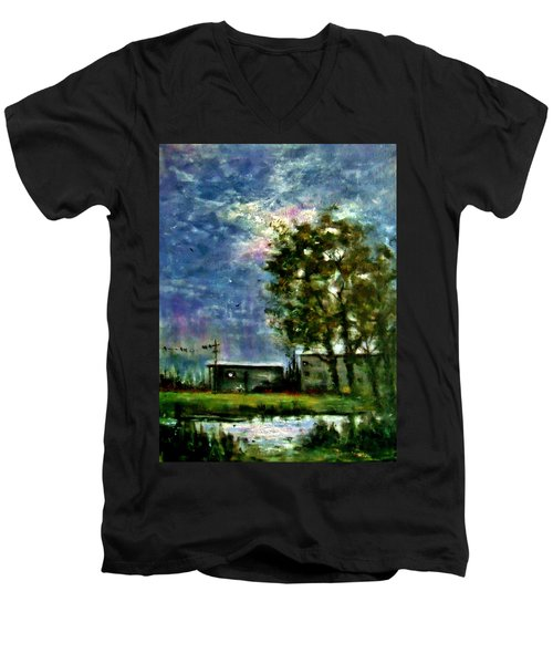 Ghost Town.. Men's V-Neck T-Shirt by Cristina Mihailescu