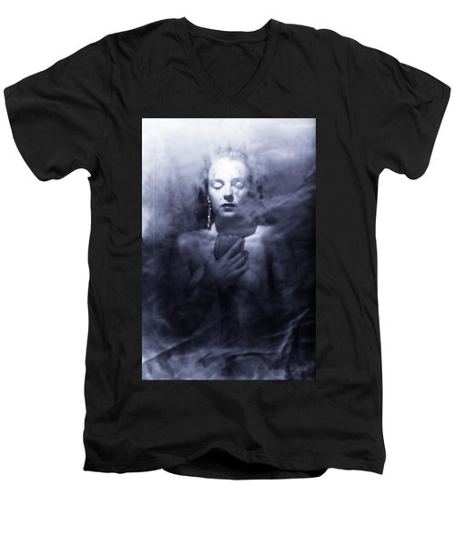 Ghost Woman Men's V-Neck T-Shirt