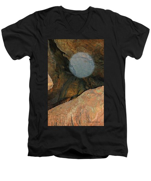 Ghostly Presence Men's V-Neck T-Shirt by DigiArt Diaries by Vicky B Fuller
