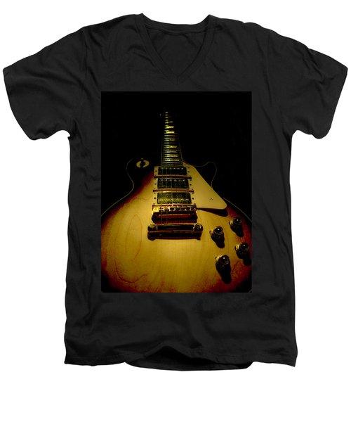 Guitar Triple Pickups Spotlight Series Men's V-Neck T-Shirt