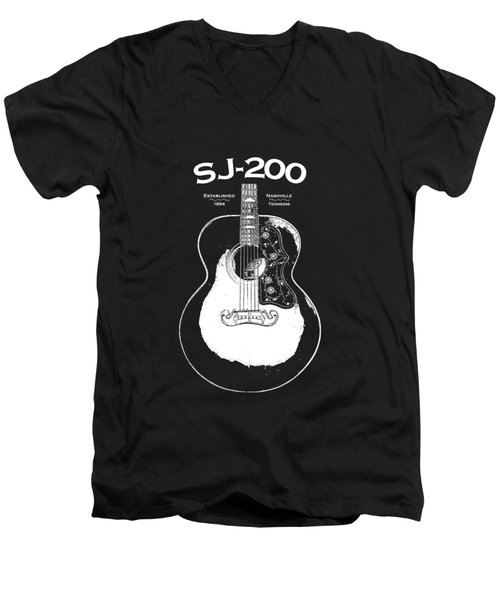 Gibson Sj-200 1948 Men's V-Neck T-Shirt