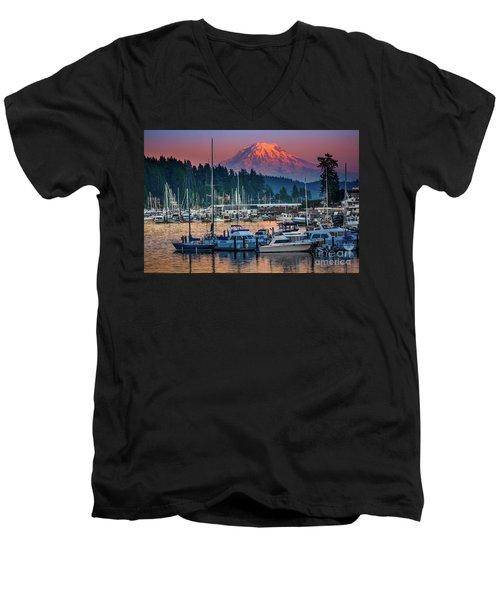 Gig Harbor Dusk Men's V-Neck T-Shirt
