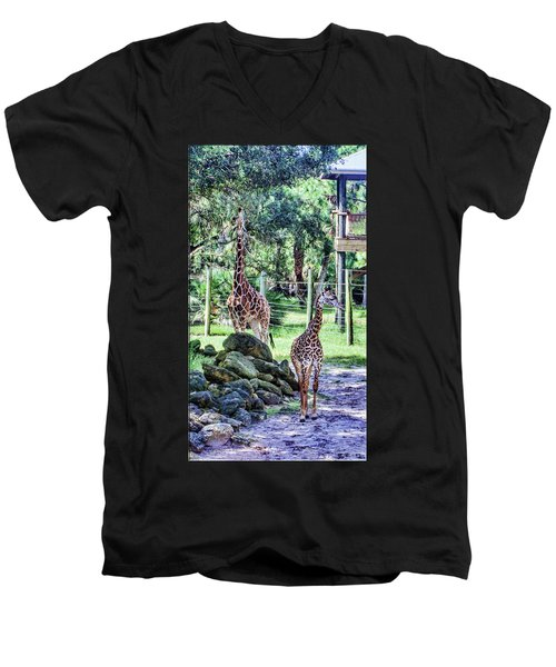 Giraffe Art I Men's V-Neck T-Shirt