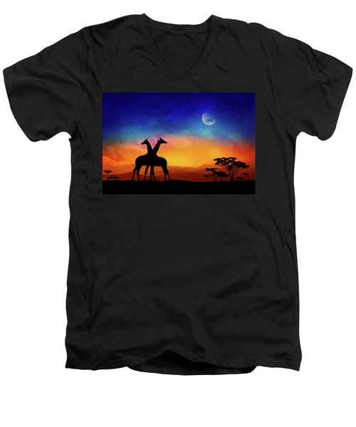 Giraffes Can Dance Men's V-Neck T-Shirt