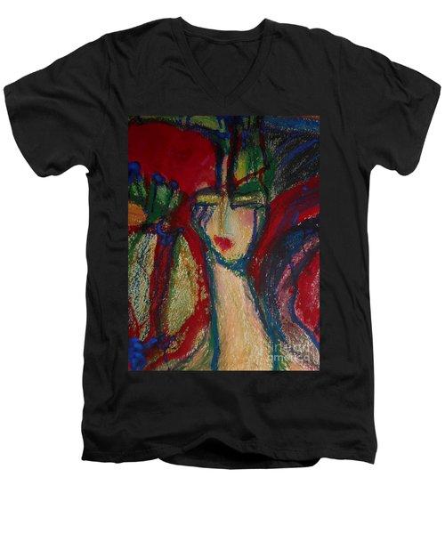 Girl In Darkness Men's V-Neck T-Shirt