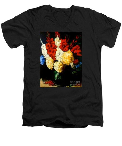 Gladiolas Men's V-Neck T-Shirt