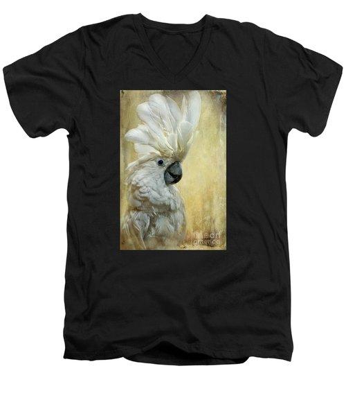 Glamour Girl Men's V-Neck T-Shirt by Lois Bryan