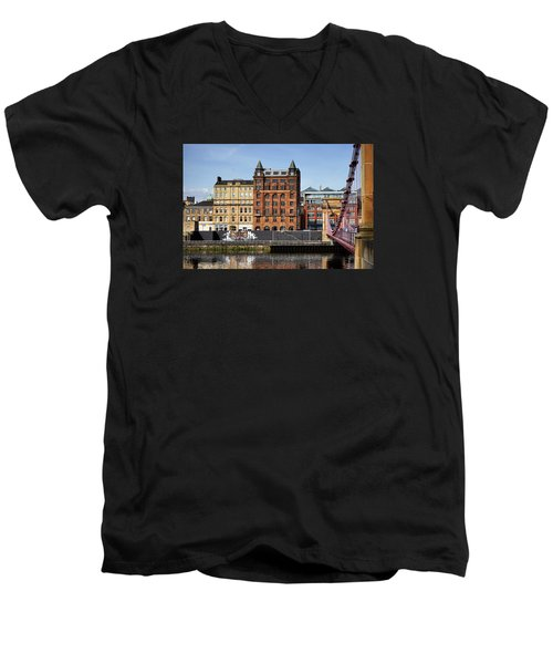Men's V-Neck T-Shirt featuring the photograph Glasgow by Jeremy Lavender Photography