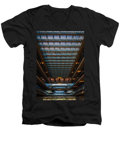 Men's V-Neck T-Shirt featuring the photograph Glass Ceiling by Kristopher Schoenleber