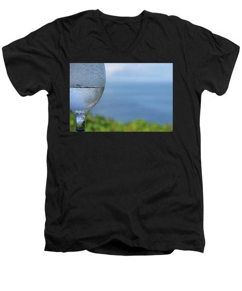 Glass Half Full Men's V-Neck T-Shirt