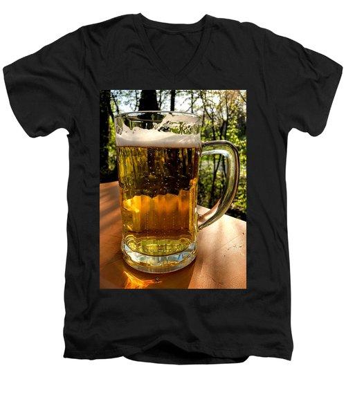 Glass Of Beer Men's V-Neck T-Shirt
