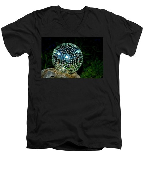Men's V-Neck T-Shirt featuring the photograph Glass On Wood by Albert Seger