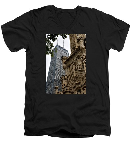 Glass Steel And Stone Men's V-Neck T-Shirt