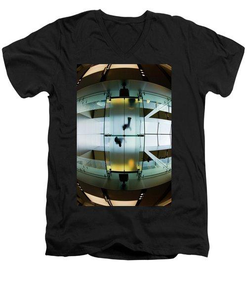 Glass Walkway Apple Store Stockton Street San Francisco Men's V-Neck T-Shirt