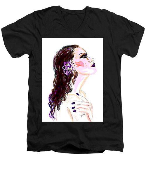 Glaze Men's V-Neck T-Shirt by Desline Vitto