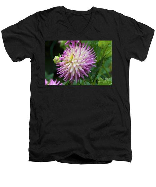Glenbank Twinkle Dahlia 1 Men's V-Neck T-Shirt