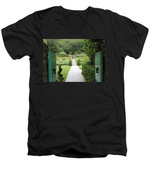 Glenveagh Castle Gardens 4272 Men's V-Neck T-Shirt