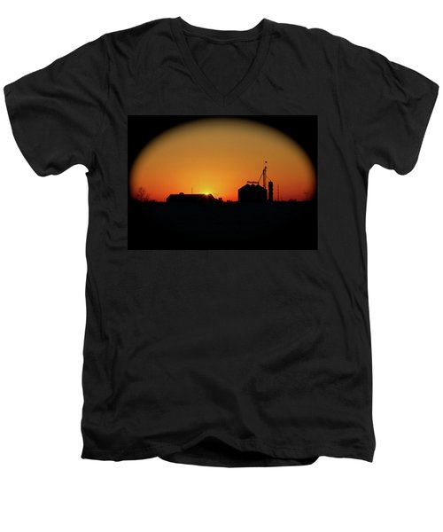 Global Sunset Men's V-Neck T-Shirt by Sue Stefanowicz
