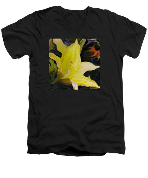 Men's V-Neck T-Shirt featuring the painting Glory II by Patricia Griffin Brett