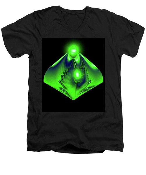 Glow Men's V-Neck T-Shirt by Kevin Caudill