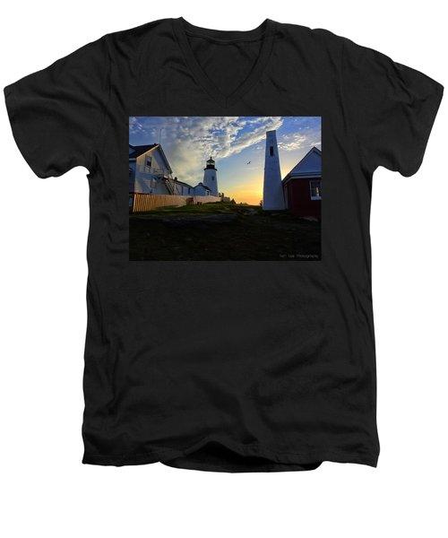 Glow Of Morning Men's V-Neck T-Shirt